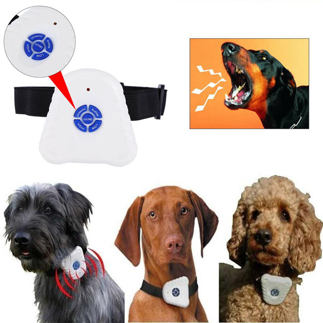 Ultrasonic Anti Barking Bark Dog Collar Safe Training Control Collar
