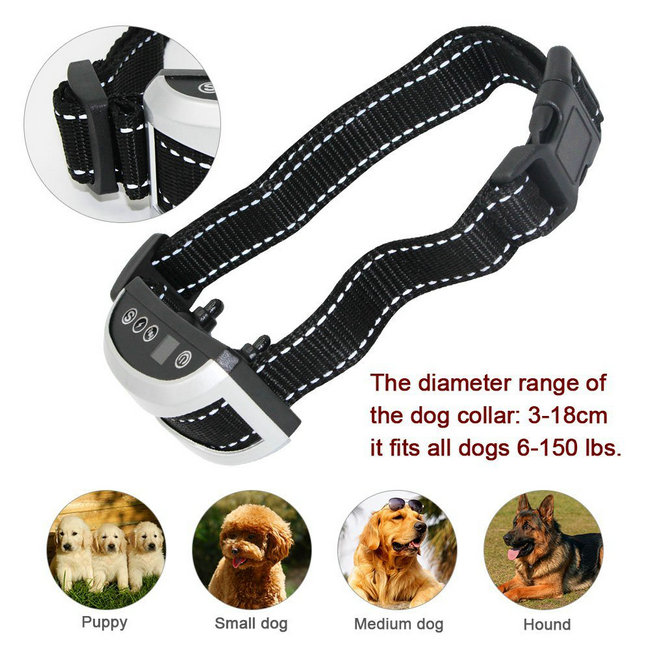 Dog No Bark Collar Rechargeable with 4 Training for All Dogs Bark Control Device