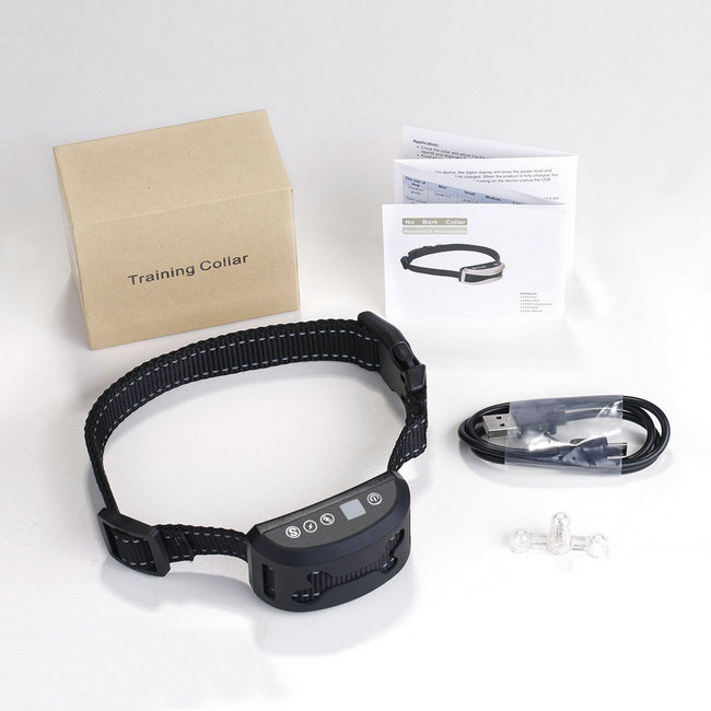 Dog No Bark Collars with Vibration and Rechargeable Anti Barking Device for All Dogs