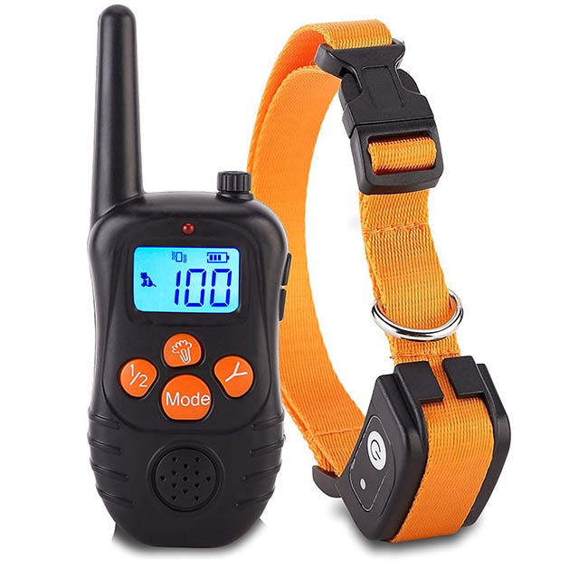 Waterproof Dog Training Collar Rechargeable Remote Electric Dog Shock Collar