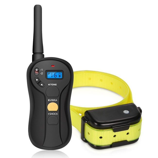 Remote Dog Training Collar With 655yd Rechargeable and Waterproof Electric Dog training Shock Collar