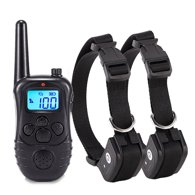 Dog Training Collars Electric Dog Collar 300m for 2 Dogs