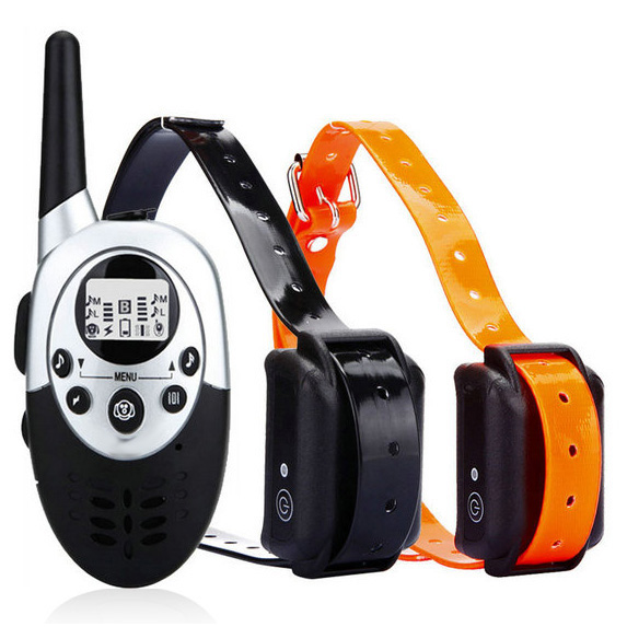 Waterproof Dog E-Collar Trainer with remote Rechargeable E-Collar for 2 Dogs